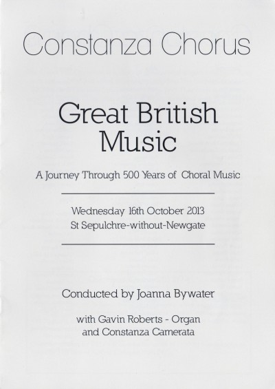 Great British Music programme cover