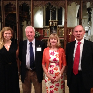 (L-R) Hatty Goody, Philip, Ruth Parr, David Bonser, Chawton Suite first performance, St Nicholas Church - September 2013
