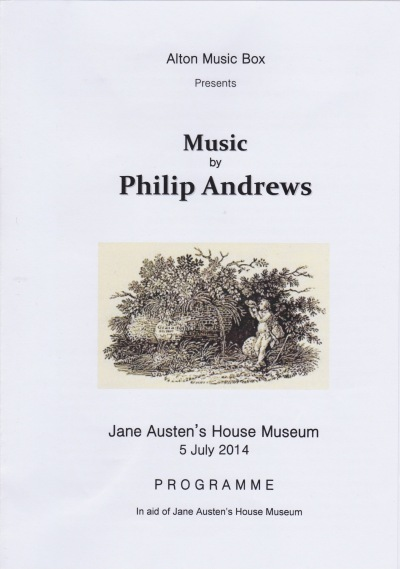 Music by Philip Andrews programme cover