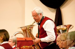 Philip soloing with Basingstoke Concert Band, Hook - March 2012