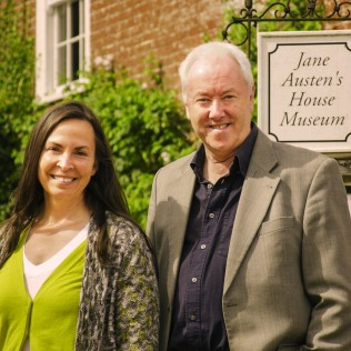 Philip and American composer and playwright Amanda Jacobs, Chawton - August 2014