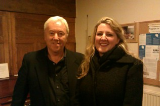 Philip and soprano Jo Weeks, Alton Music Box - December 2012