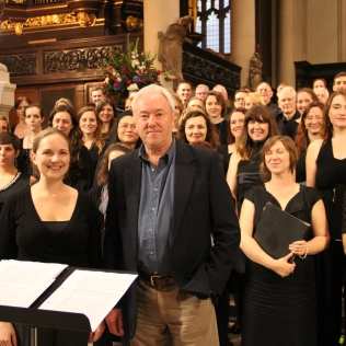 Philip with Constanza Chorus, first performance of A Farewell, St Sepulchre-without-Newgate, London - October 2013