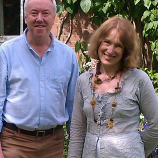 Philip with Lithuanian choral conductor Salvinija Jautakaitė-Hargreaves, Alton - June 2014