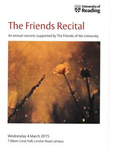 The Friends Recital programme cover