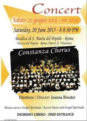Rome concert programme cover