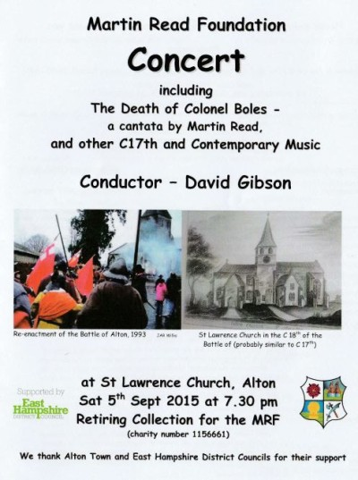 St Lawrence concert programme cover