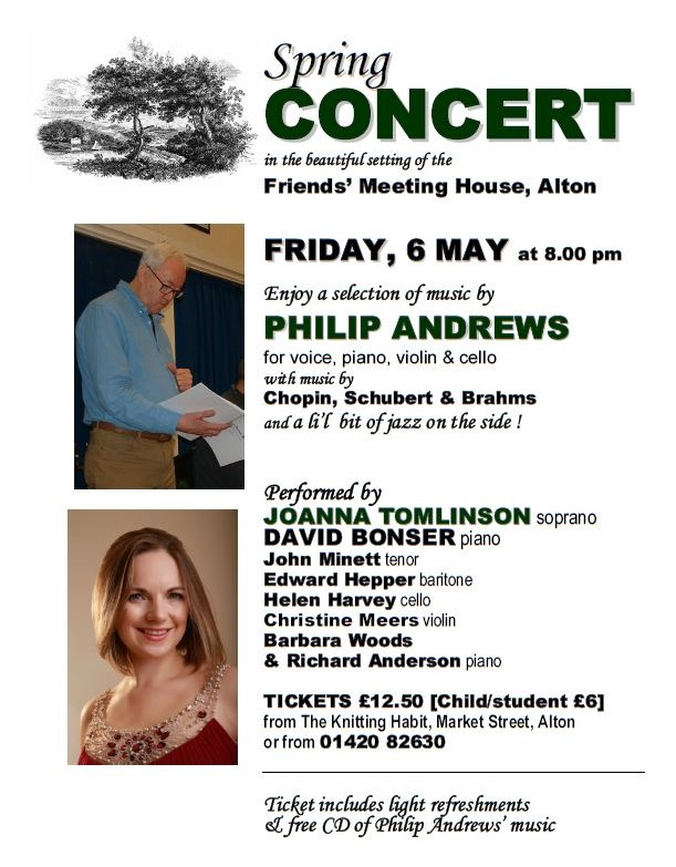 Phil Andrews Spring Concert flyer