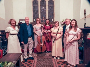 Philip with Jane Austen Suite performers at St Nicholas Church, Steventon - June 2017