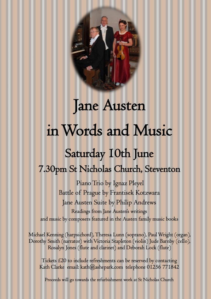 Steventon concert poster